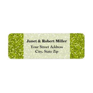 Stylish Lime Green Glitter Label