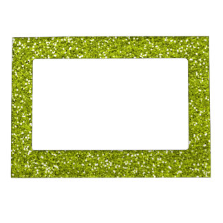 Stylish Lime Green Glitter Magnetic Photo Frame