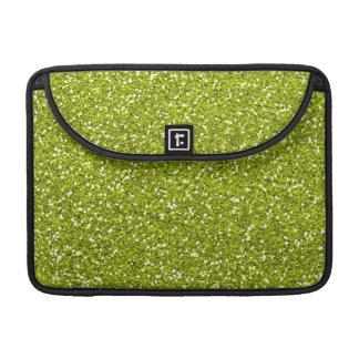 Stylish Lime Green Glitter Sleeve For MacBooks