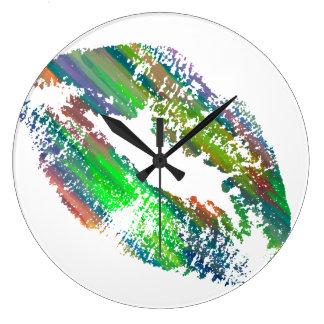 Stylish Lips #11 Large Clock