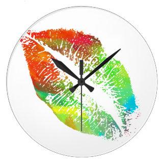 Stylish Lips #2 Large Clock