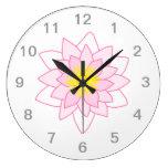 Stylish Lotus Flower. Wall Clocks
