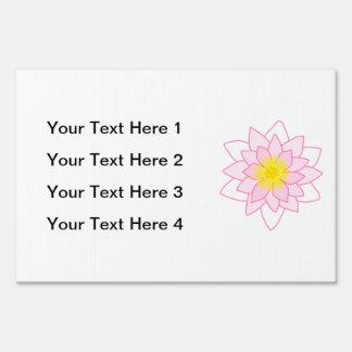 Stylish Lotus Flower Signs