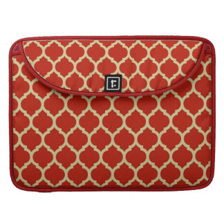 Stylish & Luxurious Red Quatrefoil lattice pattern Sleeve For MacBook Pro