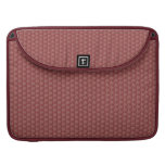 Stylish Macbook Pro Sleeve, Maroon  Mini-print