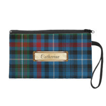Stylish MacDonald Colorful Tartan Plaid Wristlet Purse