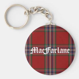 Stylish MacFarlane Tartan Plaid Keychain
