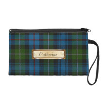 Stylish MacKenzie Colorful Tartan Plaid Wristlet