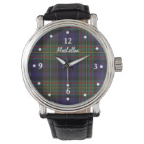 Stylish MacLellan Plaid Faced Custom Watch