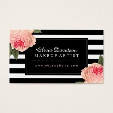 Professional Business Stylish Makeup Artist Business Cards