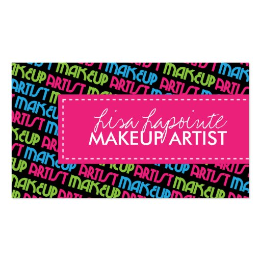 Stylish Makeup Artist Business Cards