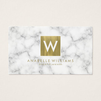 Stylish Marble and Gold Printed Texture Business Card