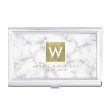heartlocked Stylish Marble and Gold Printed Texture Business Card Holder