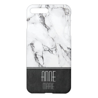 Stylish Marble and Leather iPhone 8 Plus/7 Plus Case