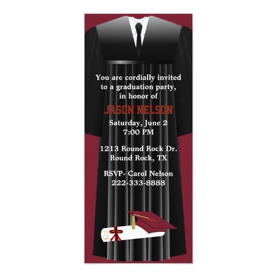 Stylish maroon graduation party invitation zazzle stylish maroon graduation party invitation filmwisefo
