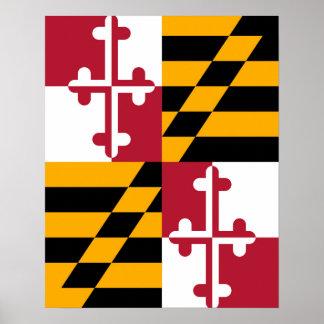Stylish Maryland State Flag Decor