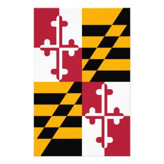 Stylish Maryland State Flag Design Stationery