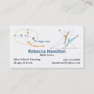 Tutoring business cards templates zazzle stylish math tutor teachers business card colourmoves