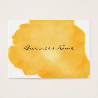 Stylish Medium Orange Swish of Color Business Card