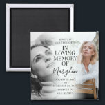 """Stylish Memorial Before & After Photo Keepsake Magnet<br><div class=""""desc"""">Remember a loved one with this gorgeous stylish before and after fridge magnet, featuring 2 photographs of your family member or friend, (one when they were younger and the other when they were older), an elegant template with the heading 'In loving memory' their name or relation in handwritten calligraphy script...</div>"""