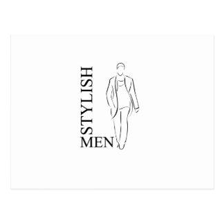 Stylish men postcard