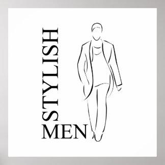 Stylish men poster