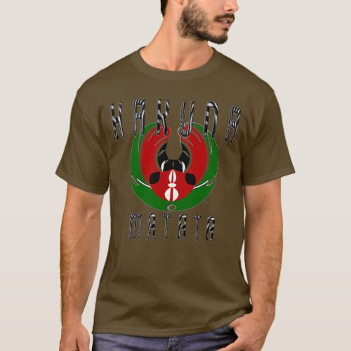 Stylish Mens Basic Dark Kenya Hakuna Matata T_Shirt
