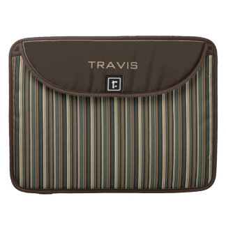 Stylish Men's Personalized Brown Striped Sleeve