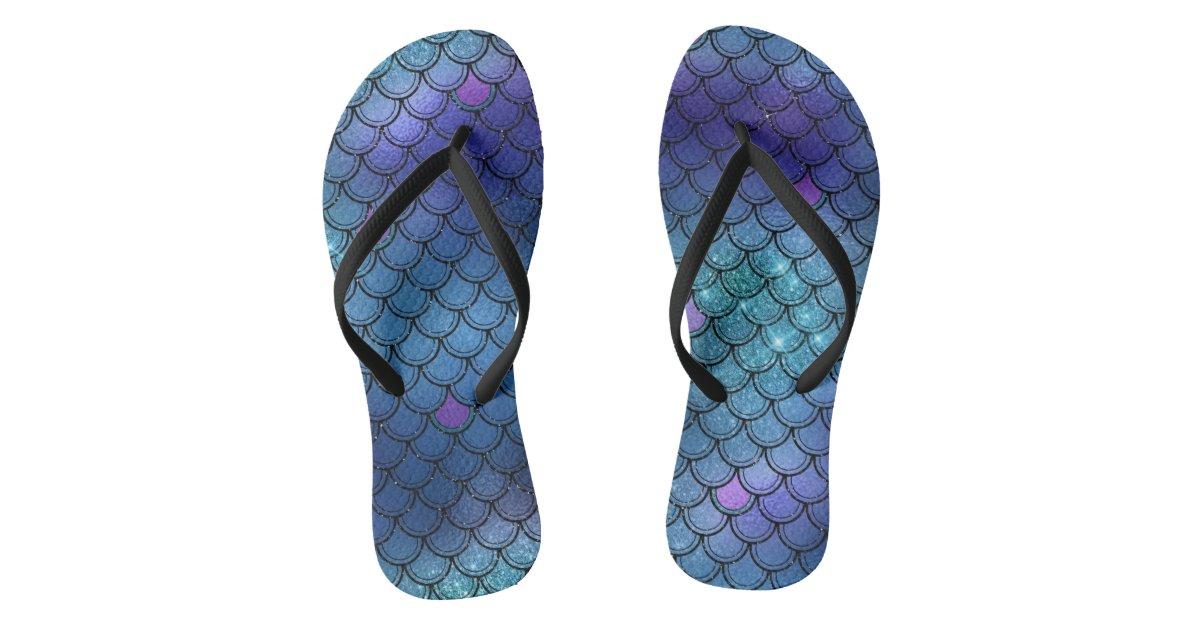 260073f6dc52d Stylish Mermaid Scale Flip Flops