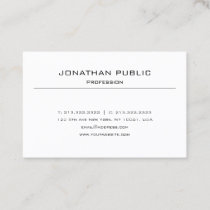Stylish Minimalist Modern Sleek Elegant Plain Chic Business Card