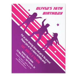Stylish Minimalist Teen Disco Dance Birthday Party Card
