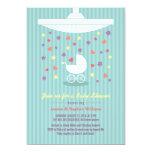Stylish Mint Blue Baby Shower Colorful Invite Invite