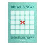 "Stylish Mint Green 5x5 Bridal Bingo Cards 3.5"" X 5"" Invitation Card"