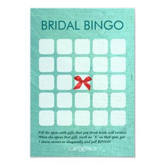 Stylish Mint Green 5x5 Bridal Bingo Cards Invitation