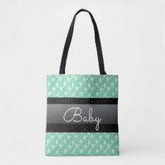 Stylish Mint Green Polka Dots And Spots Baby Bag at Zazzle