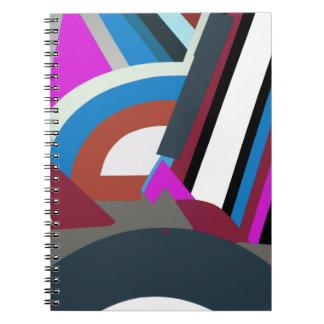 Stylish Modern Abstract Art spiral notebook
