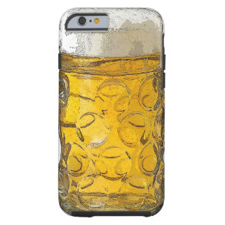 Stylish Modern Beer Glass Artwork Tough iPhone 6 Case