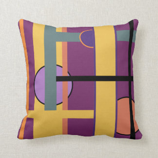 Stylish Modern Colorful Abstract Geometric Design Pillow