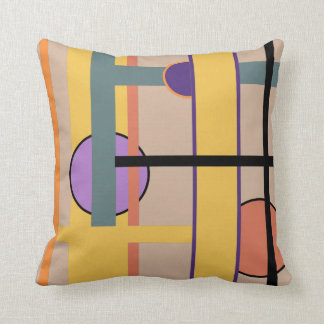 Stylish Modern Colorful Abstract Geometric Design Throw Pillow