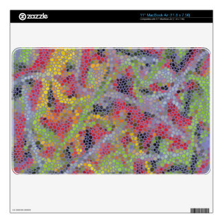 Stylish modern colorful pattern MacBook air decals