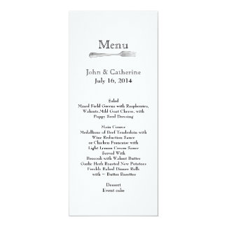 Stylish Modern Custom Wedding Table Menu Card