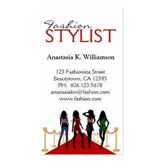 Stylish Modern Fashion Stylist Business Card Business Cards