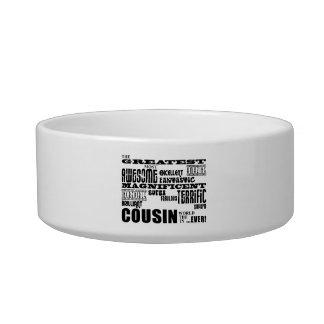 Stylish Modern & Fun Cousins : Greatest Cousin Cat Bowl