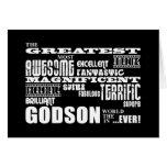 Stylish Modern & Fun Godsons : Greatest Godson Greeting Card