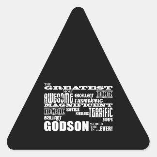 Stylish Modern & Fun Godsons : Greatest Godson Triangle Sticker