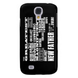 Stylish Modern & Fun New Dads Greatest New Father Galaxy S4 Cover