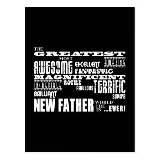 Stylish Modern & Fun New Dads  Greatest New Father Postcard
