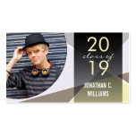 Stylish Modern Graduation Photo Profile Card Double-Sided Standard Business Cards (Pack Of 100)