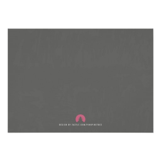 Stylish Modern Grey Housewarming Invitation (back side)