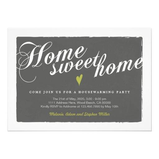 Stylish Modern Grey Housewarming Invitation